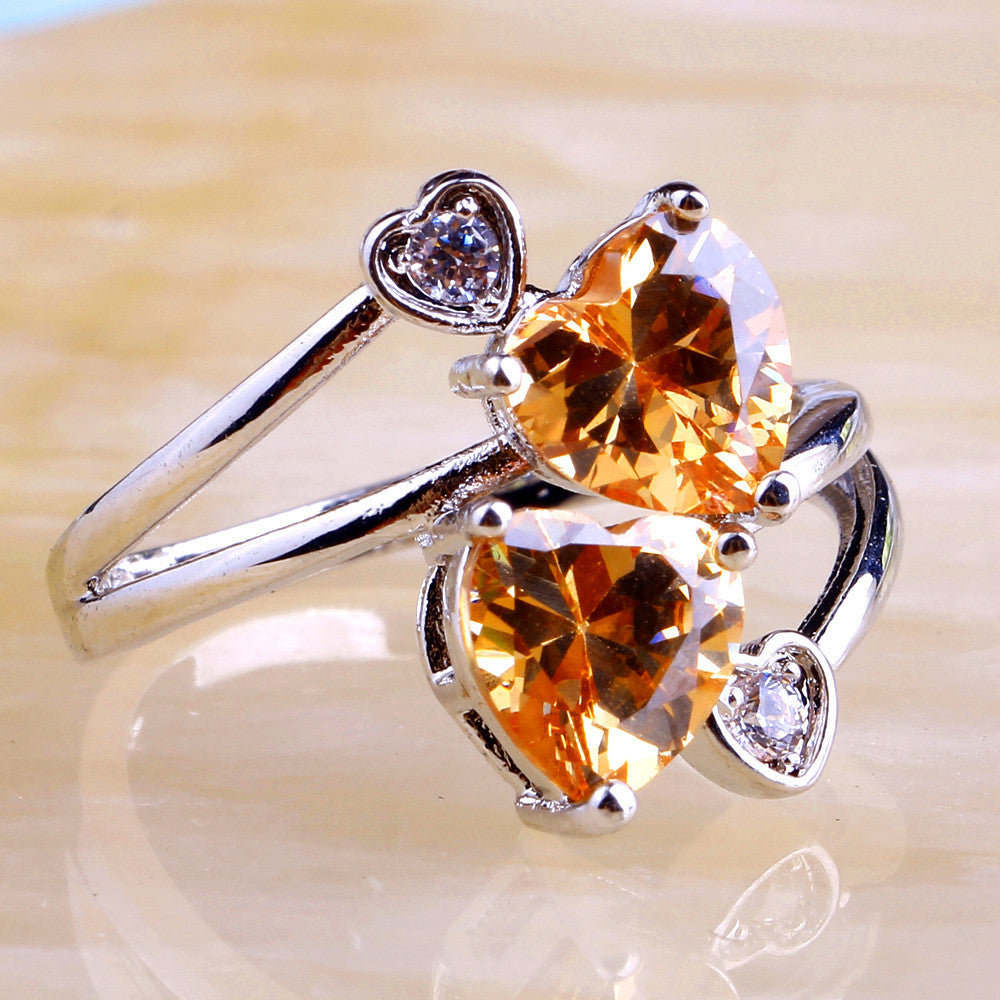 Heart Cut Champagne Ring