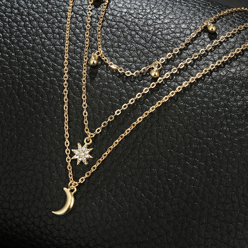 Moon & Stars Layered Necklace