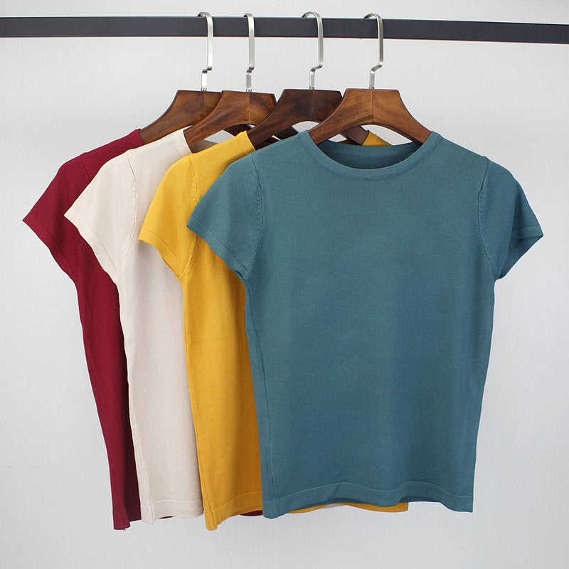 Knitted Short Sleeve Tee