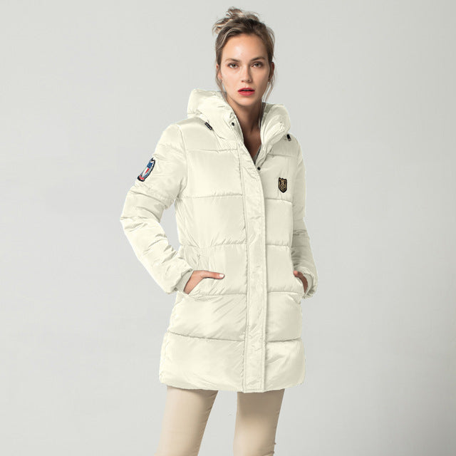 Long Hooded Snow Coat
