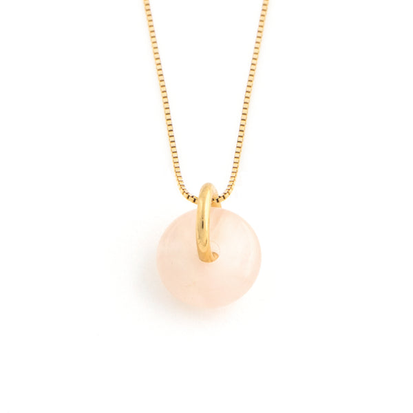 JANUARY ROSE QUARTZ NECKLACE