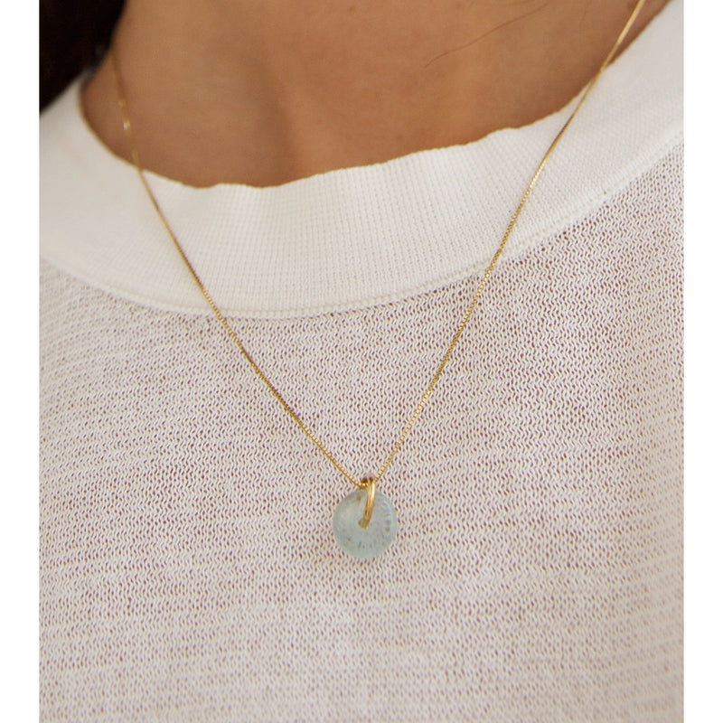 MARCH AQUAMARINE NECKLACE