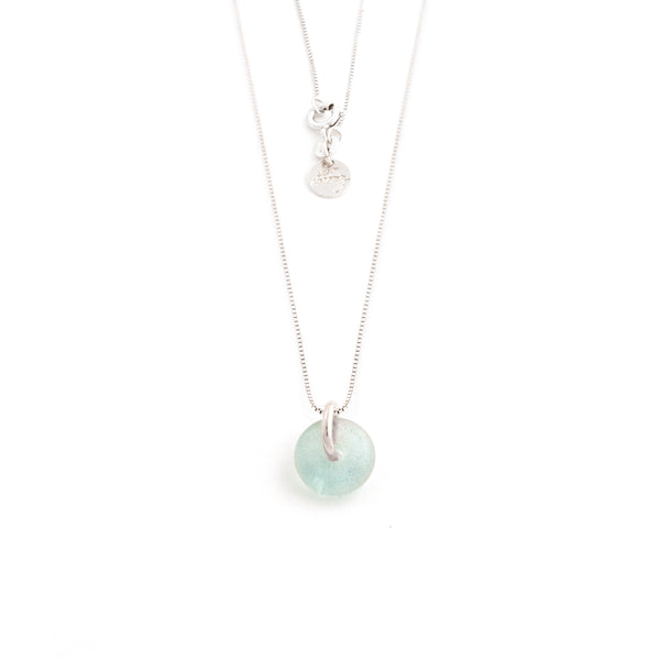MARCH AQUAMARINE NECKLACE SILVER