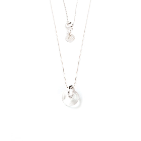 APRIL ROCK CRYSTAL NECKLACE SILVER