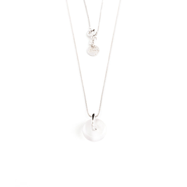 JUNE MOONSTONE NECKLACE SILVER