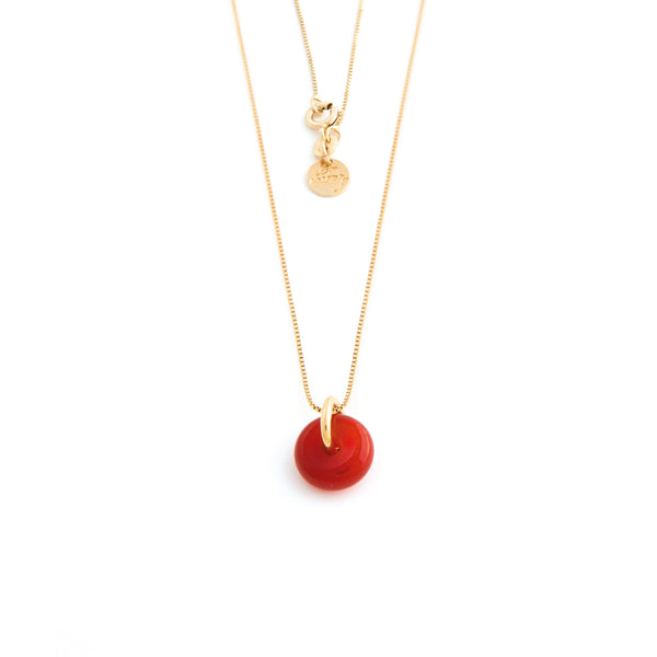 JULY CARNELIAN NECKLACE