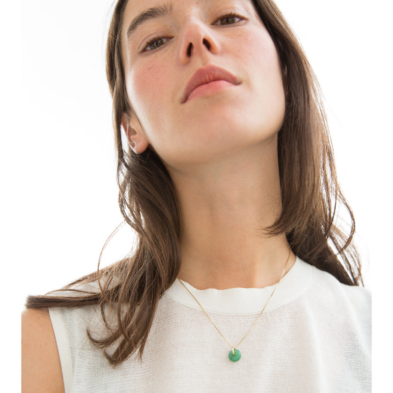 AUGUST AVENTURINE NECKLACE SILVER