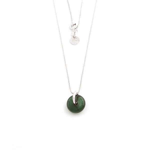 OCTOBER TOURMALINE NECKLACE SILVER