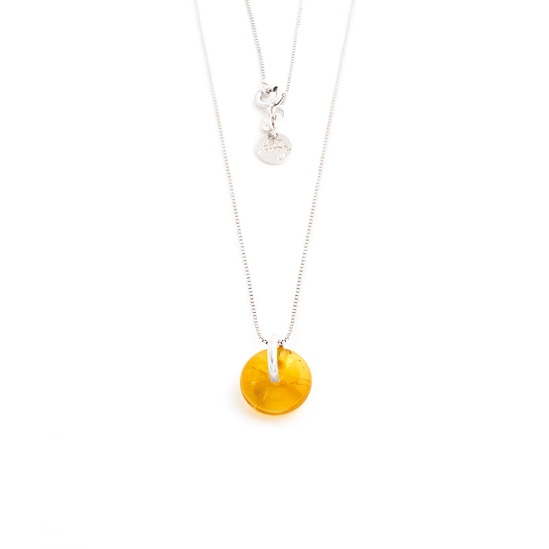 NOVEMBER CITRINE NECKLACE SILVER