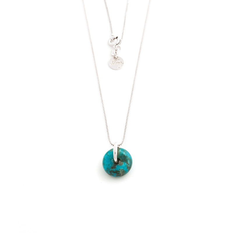 DECEMBER TURQUOISE NECKLACE SILVER