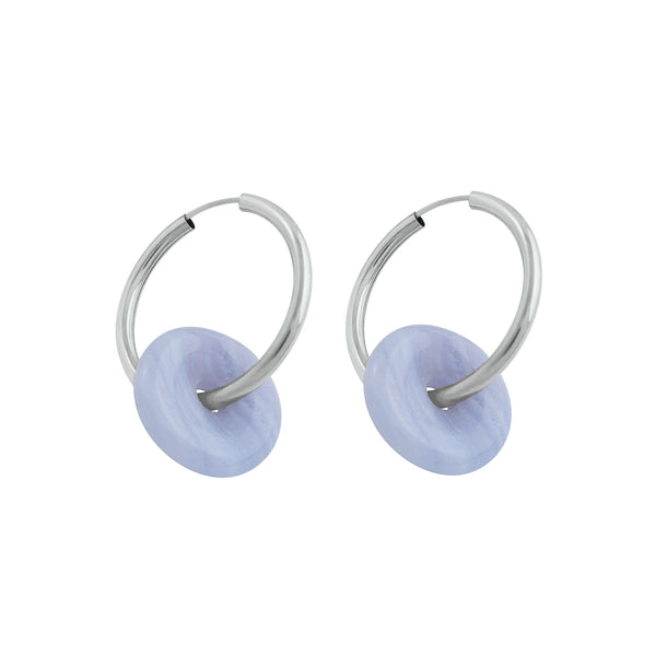 OH SO SPECIAL CHALCEDONY CHUNKY HOOP