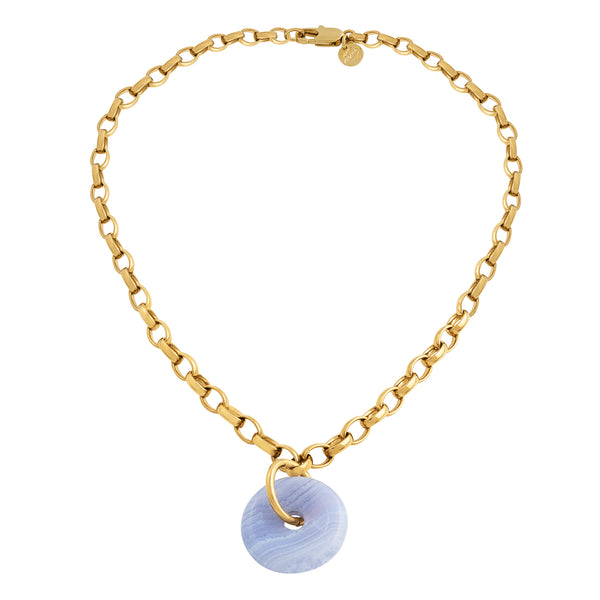 BIG LOVE CHALCEDONY COLLIER