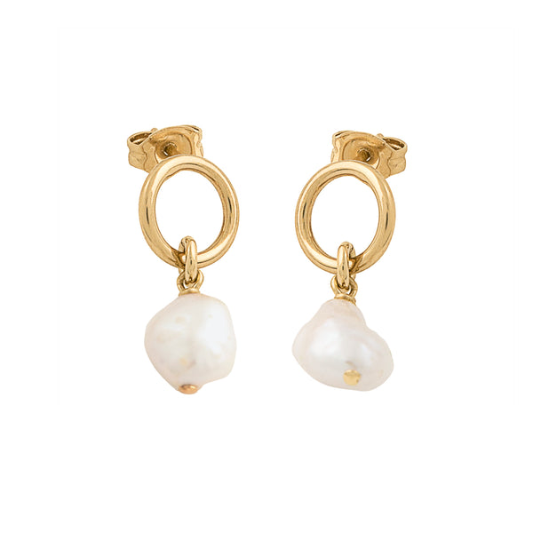 MINI LOOP PEARL EARRING