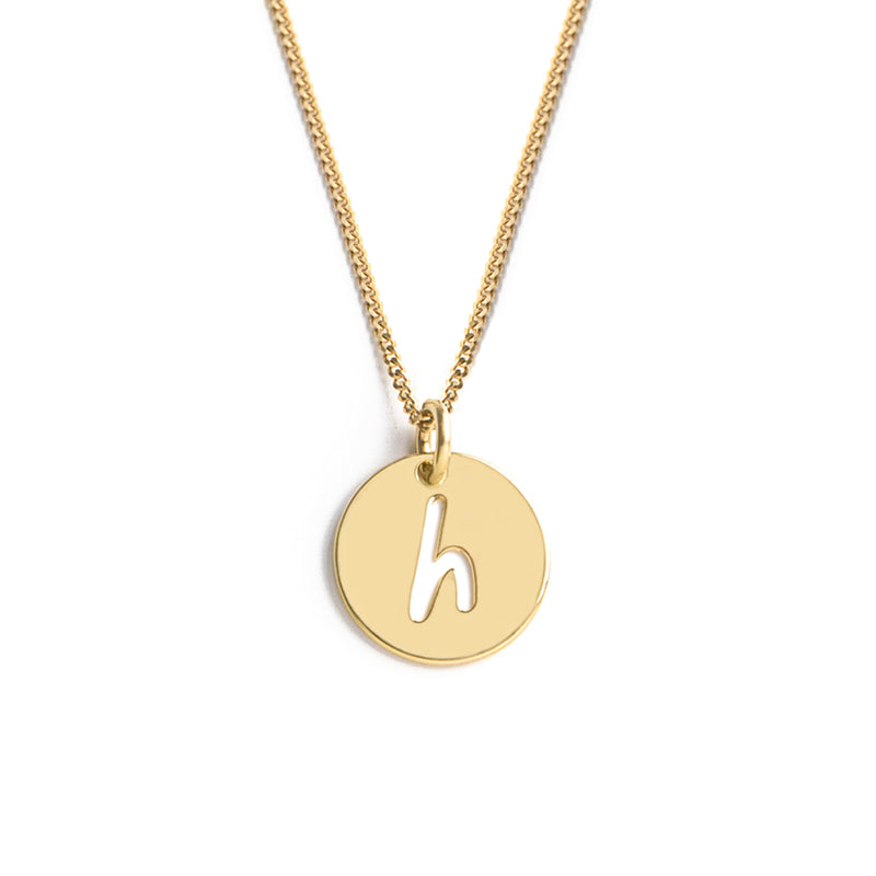 H LIKE HEART NECKLACE