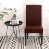 Housse de chaise extensible Marron