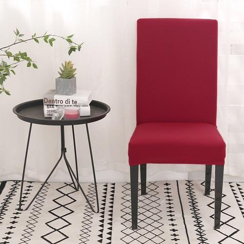 Housse de chaise extensible Rouge