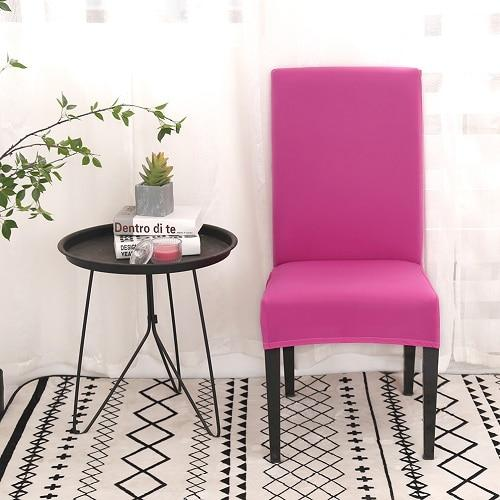 Housse de chaise extensible Rose