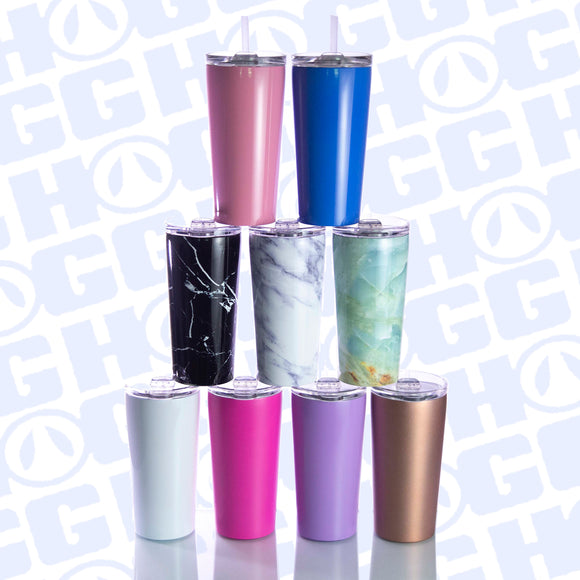 16OZ PINT TUMBLER W/ STRAW - COLORS