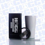 16oz SLIM TUMBLER W/ STRAW - WHITE