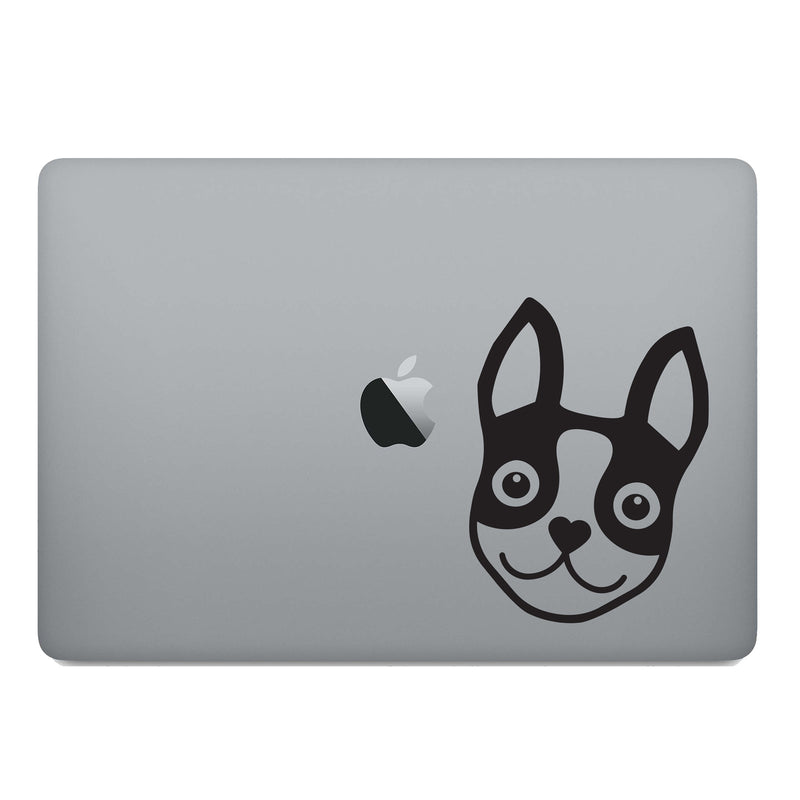 BOSTON TERRIER ICON DECAL - BLACK - 5""