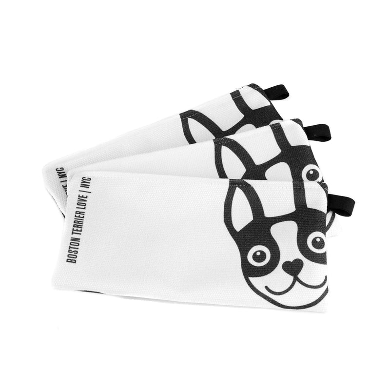 Boston Terrier Pencil Case - Black