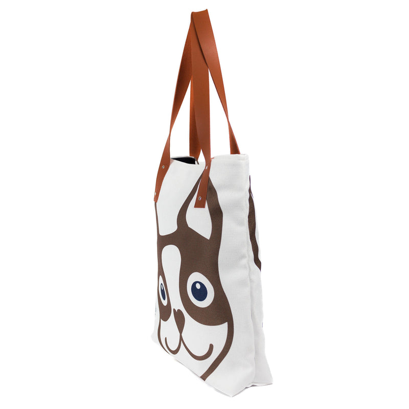 Boston Terrier Icon Urban Tote Bag - Brown Boston Terrier Love