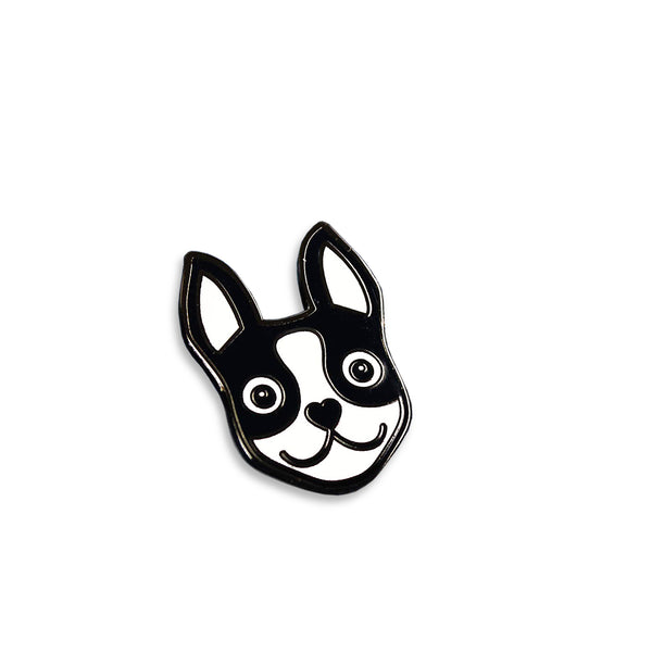 Boston Terrier Icon Enamel Pin Boston Terrier Love
