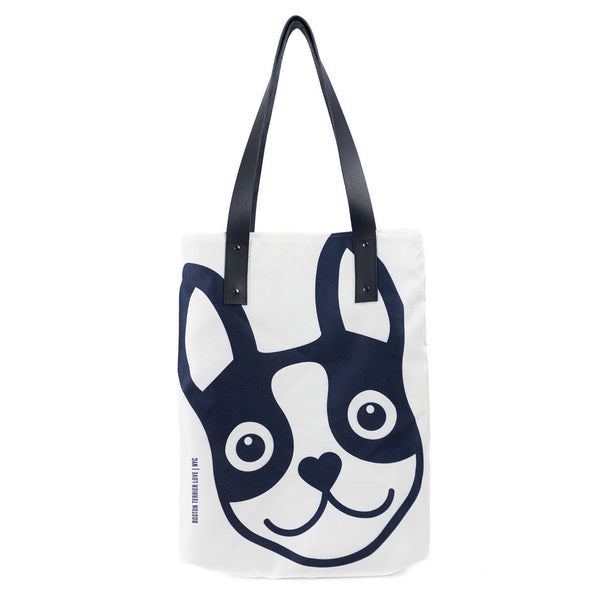 Boston Terrier Icon Urban Tote Bag - Navy Boston Terrier Love