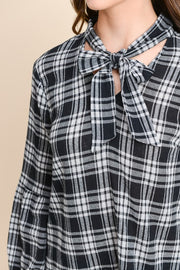 More Than Friends Tie Front Blouse