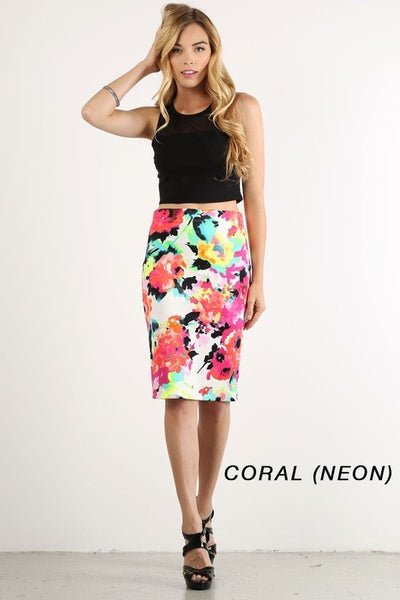 Blythe Watercolor Pencil Skirt