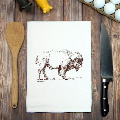 Buffalo Bison Flour Sack Tea Towel