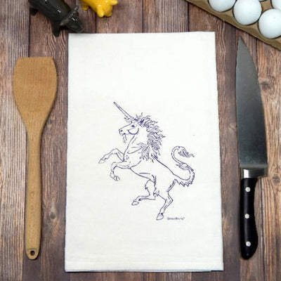 Unicorn Flour Sack Tea Towel