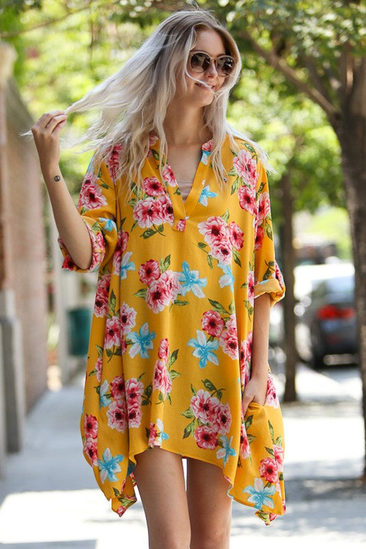Living In Yellow Floral Tunic