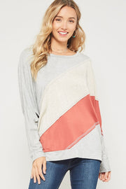 Collide Color Block Dolman Top