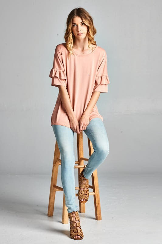 Bloom Ruffle Sleeve Top