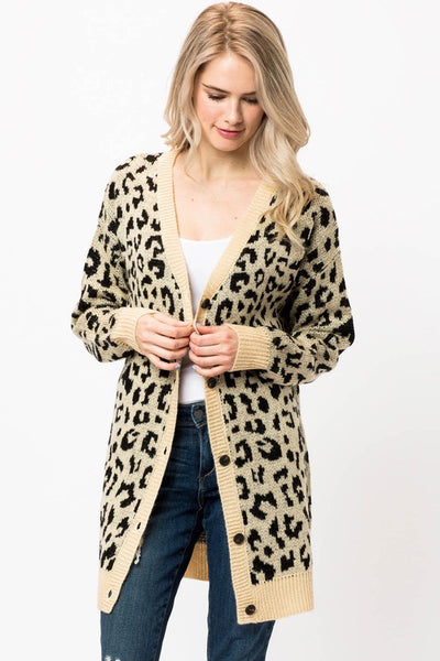 Your Lovely In Leopard Cardi