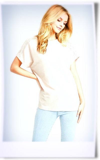 Whitley Cream Dolman Top