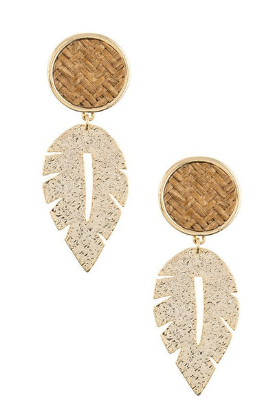 Woven Palm Statement Earring