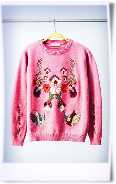 Dixie Embroidered Detail Sweater