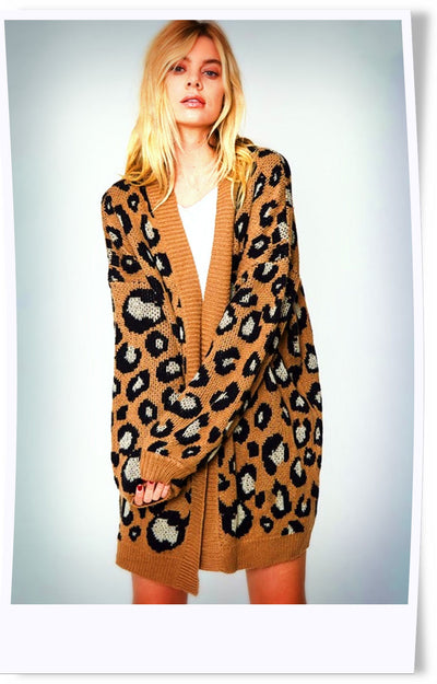 Wild Thang Slouchy Leopard Cardi