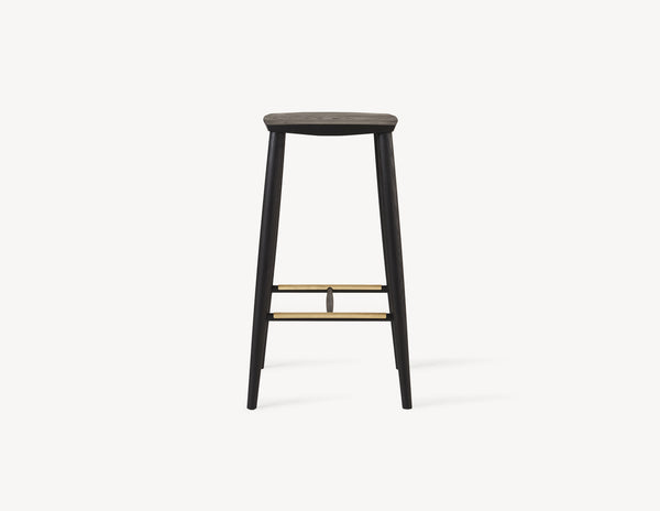 Palmerston Stool with Brass Footrests