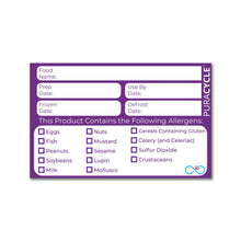Load image into Gallery viewer, Puracycle Remarkable Allergen Label, 20 Pack