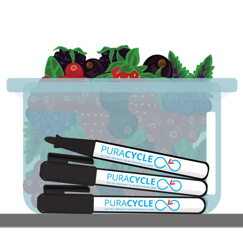 Puracycle Foodservice Markers, 3 Pack, , Puracycle Shop, permanent markers, expo markers, dry erase markers, wet erase markers, food bin, food labeling, food rotation labeling marker