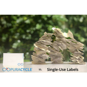 Puracycle Standard Label, 100 Pack, Labels, puracycle.com, Environmentally friendly labels, eliminate waste, reusable lable,s single-use labels, food rotation labels, first in first out labels