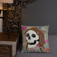 Skull Babe- Premium Square Pillow