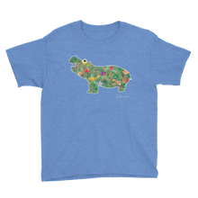 Flower Hippo- Youth Short Sleeve T-Shirt