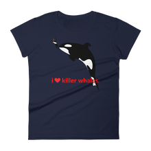 i ♥ killer whales. - Women's short sleeve t-shirt