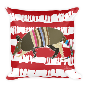 """What the Dillo!?"" - Square Throw Pillow"
