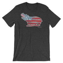 White Hippo Americana- Men's Short Sleeve T-Shirt
