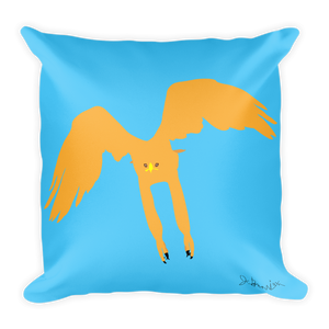 """Golden Eagle vs Mountain Goat"" - Double Side Square Pillow"